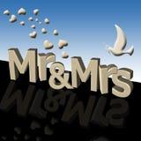 Sr. y señora Imágenes de archivo libres de regalías
