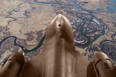 SR71 over Montana. SR71 depicted in flight over rural Montana Stock Images