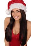 Sra. bonita e 'sexy' Santa isolada no branco Foto de Stock