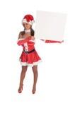 Sra. Santa Em branco Sinal Fotos de Stock Royalty Free
