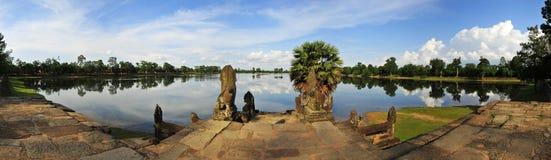 Sra Srang, Królewski Pływacki basen, Angkor Wat, Kambodża Obraz Royalty Free