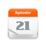 Sradichi l'icona del calendario Immagine Stock