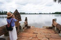 Srah Srang σε Angkor μια διάσημη ιστορική παγκόσμια κληρονομιά siteUNESCO σε Angkor, Siem συγκεντρώνει, Καμπότζη Στοκ φωτογραφία με δικαίωμα ελεύθερης χρήσης