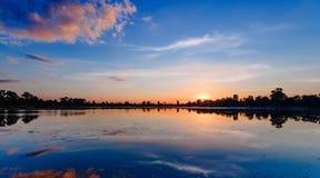 Ανατολή της λίμνης Srah Srang Στοκ Φωτογραφίες