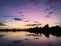 Srah Srang anglicanism η banteay λίμνη της Καμπότζης angkor lotuses συγκεντρώνει siem το ναό srey Καμπότζη Στοκ εικόνα με δικαίωμα ελεύθερης χρήσης