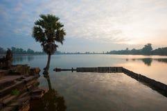 Srah Srang baray, Angkor, Cambodia Royalty Free Stock Image