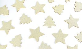 Srar and christmas tree on white background. Star with christmas tree on white background Stock Photography
