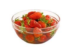 Srawberries em uma bacia Foto de Stock Royalty Free