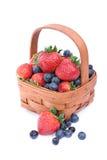 Srawberries y arándanos Foto de archivo libre de regalías