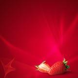 Srawberry no vermelho fotos de stock royalty free