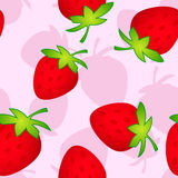 Srawberry pink. Seamless pattern with strawberry on a pink Royalty Free Stock Photos