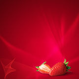 Srawberry in red Royalty Free Stock Photos