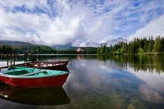 Srbske Pleso jezioro w slovakian Wysokich Tatrzańskich górach Zdjęcie Stock