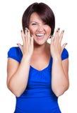 Sreaming и счастливая молодая женщина Стоковые Фотографии RF
