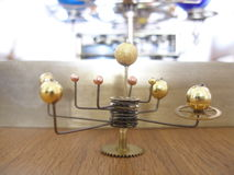 Orrery With 8 Planets for a dolls house. Royalty Free Stock Photos