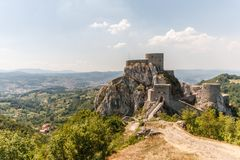 Srebenik城堡 免版税库存照片