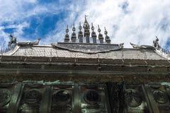 Srebna świątynia Lanna królestwo w Chiang Mai Obrazy Stock
