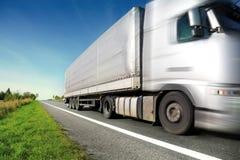 srebna ciężarówka obrazy stock