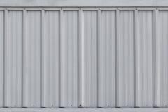 Srebna metalu prześcieradła ściana, aluminium gofruje ścianę obrazy stock