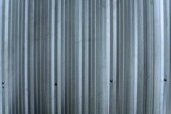 Srebna metalu prześcieradła ściana, aluminium gofruje ścianę zdjęcie royalty free