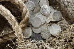 Srebna moneta Zdjęcie Stock