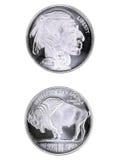 Srebna moneta Zdjęcia Royalty Free