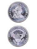 Srebna moneta Zdjęcie Royalty Free
