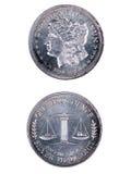 Srebna moneta Zdjęcia Stock