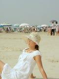 Srebna plaża Obraz Royalty Free