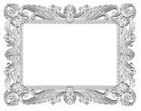 Srebna rama fotografia stock
