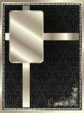 Srebna rama z kwiecistymi elementami 10 royalty ilustracja
