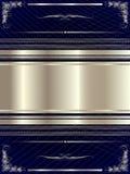 Srebna rama z kwiecistymi elementami 17 ilustracja wektor