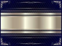 Srebna rama z kwiecistymi elementami 9 ilustracja wektor