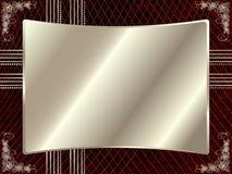 Srebna rama z kwiecistymi elementami 5 ilustracja wektor