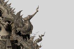 Srebna sztuki rzeźba w Tajlandia Obraz Stock