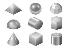 Srebne metal formy ilustracji