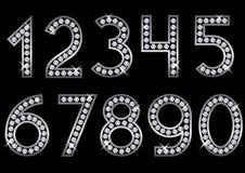 Srebne metal liczby Obrazy Royalty Free