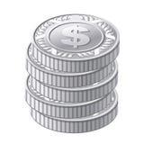 Srebne monety Obraz Royalty Free