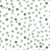 Srebnego dolara eukaliptusowych liści projekta bezszwowy wektorowy wzór Obrazy Royalty Free