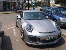 Srebnego koloru nowy warunek Porsche GT3R w Lima Obraz Royalty Free