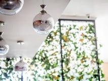Srebnego metalu Podsufitowa lampa w Balowym kształcie Zdjęcie Stock