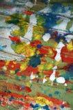 Srebnej czerwonej pastel błotnistej akwareli żywi pluśnięcia, farby abstrakcjonistyczny kreatywnie tło Zdjęcie Stock