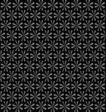 Srebni abstrakcjonistyczni wiruje fan, kwiecisty okresowy wzór, bezszwowi cienie popielaty tło Obrazy Stock