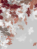 Srebni jesień liście royalty ilustracja