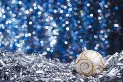 Srebni nowy rok piłka Obrazy Stock