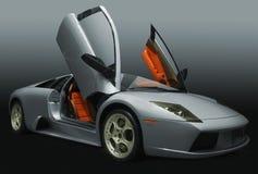 srebni samochodów sporty Obrazy Royalty Free