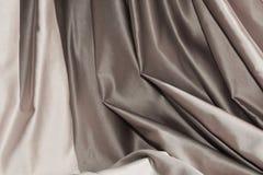Srebni tkanina fałdy, tło Fotografia Royalty Free