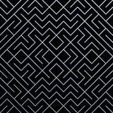 Srebny abstrakcjonistyczny geometryczny deseniowy tło z błyskotliwości siatki teksturą Wektorowy bezszwowy ozdobny geometria wzór Zdjęcie Stock