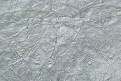 Srebny aluminiowej folii tło Obrazy Stock