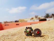 Srebny Amazigh marokańczyka pierścionek obraz royalty free